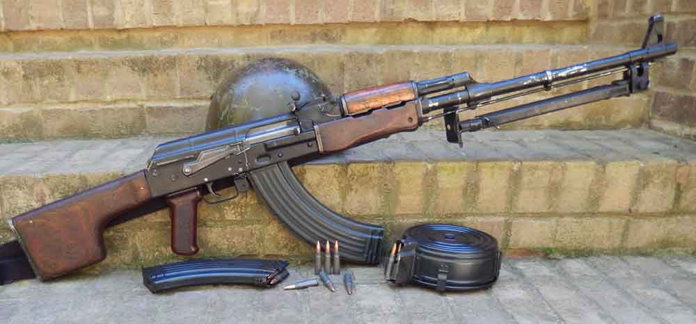 RPK Squad Automatic Weapon with drum magazine