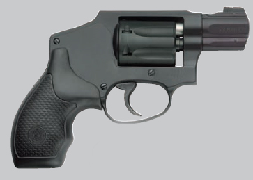 Smith & Wesson 351C in dark gray pointed right on a light gray background