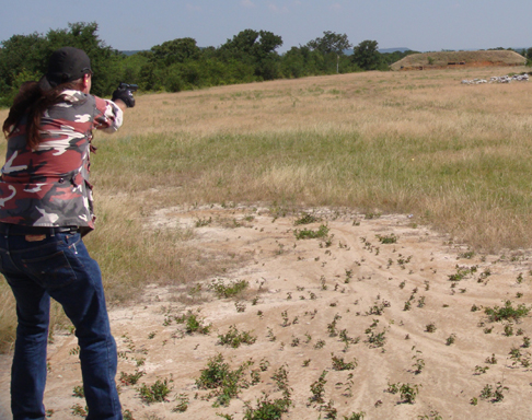 Long range pistol shooting 300 ft to m