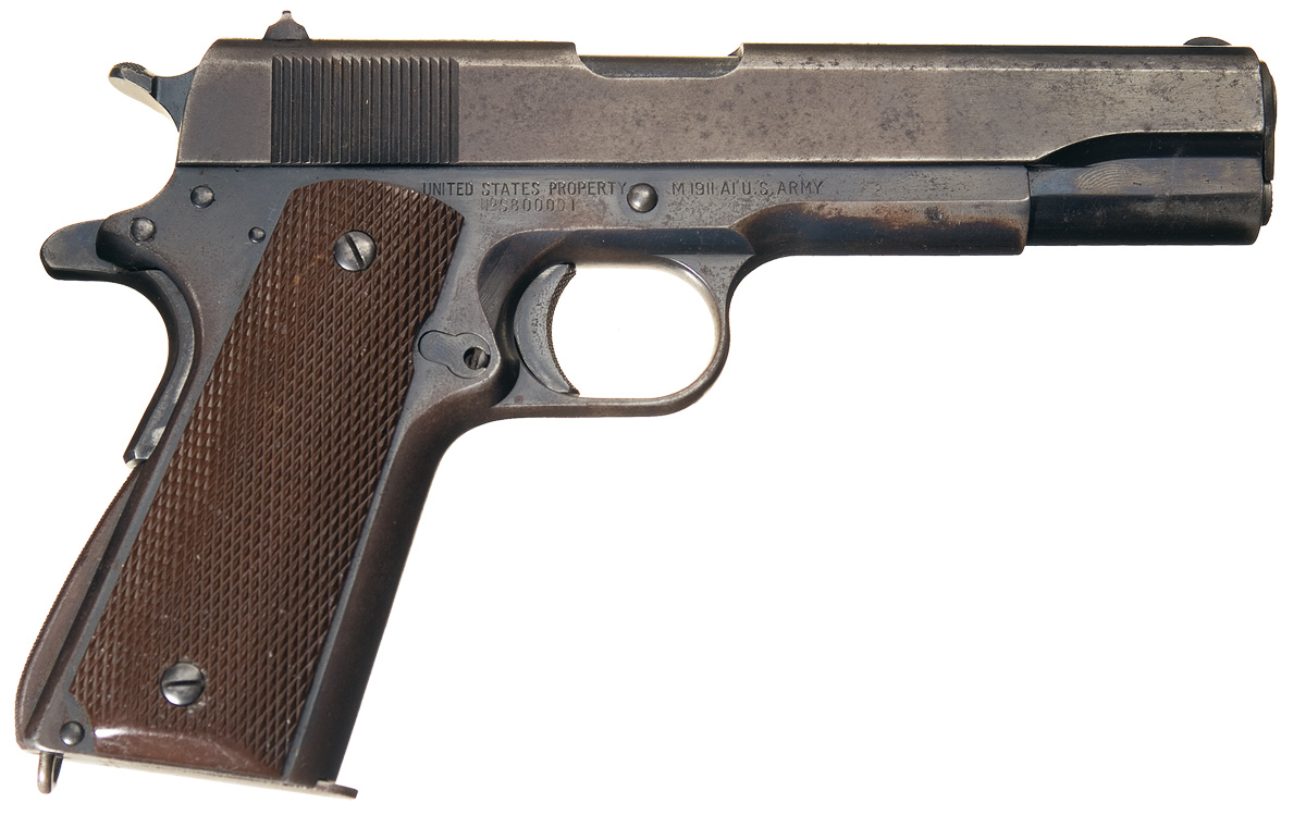 Singer Mfg. Model 1911A1 Serial Number 1 Semiautomatic Pistol