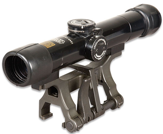 Dark gray metal scope