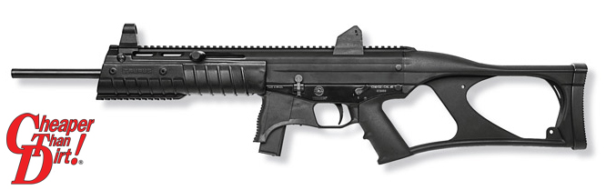 Black Taurus CT G2 with barrel pointed to the left on a white background