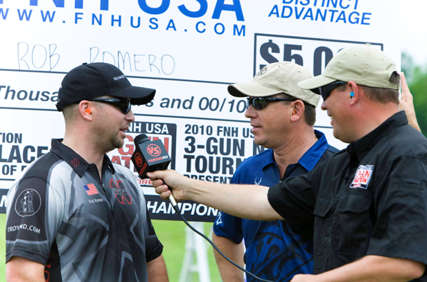 Chad interviews Rob Romero after winning the 2010 FNH USA Midwest 3-Gun Shoot-Off