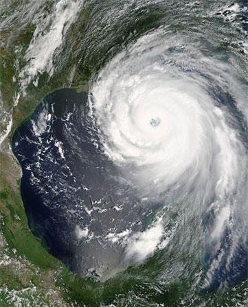 Hurricane Katrina in Atlantic, 2005 Credit: NASA, Public Domain
