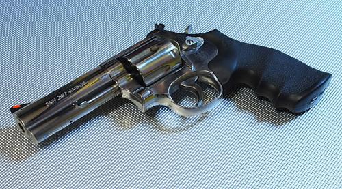 Smith and Wesson 686 revolver left profile