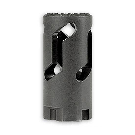 If you like the AR-15 style flash hider, you can find one threaded to work.