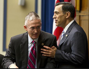 South Carolina Republican Rep. Trey Gowdy (left) and House Oversight Committee Chairman Rep. Darrell Issa.