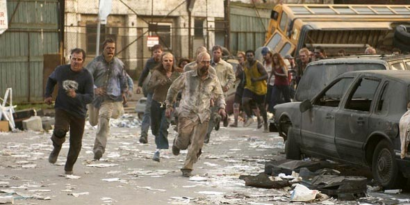 A zombie horde is highly unlikely.