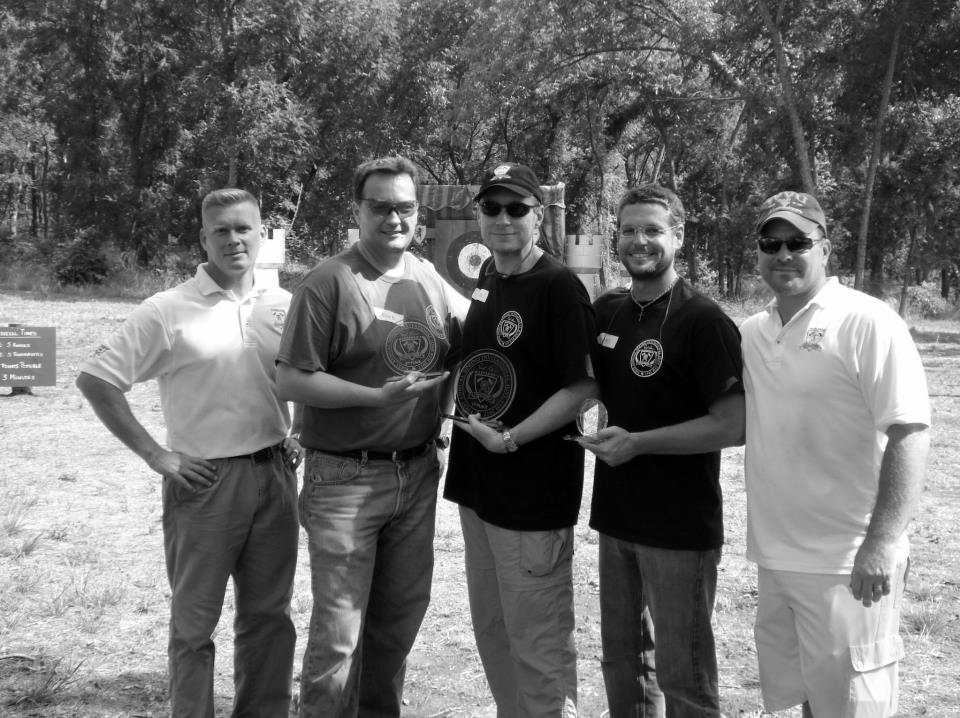 From left to right are Daryl Parker, Eric Bellamy, John Stuchly, Jeff Simpson, and Travis Marsh.