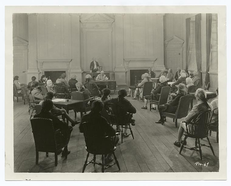 A meeting of the Second Continental Congress. Can you just imagine what it was like in that room?