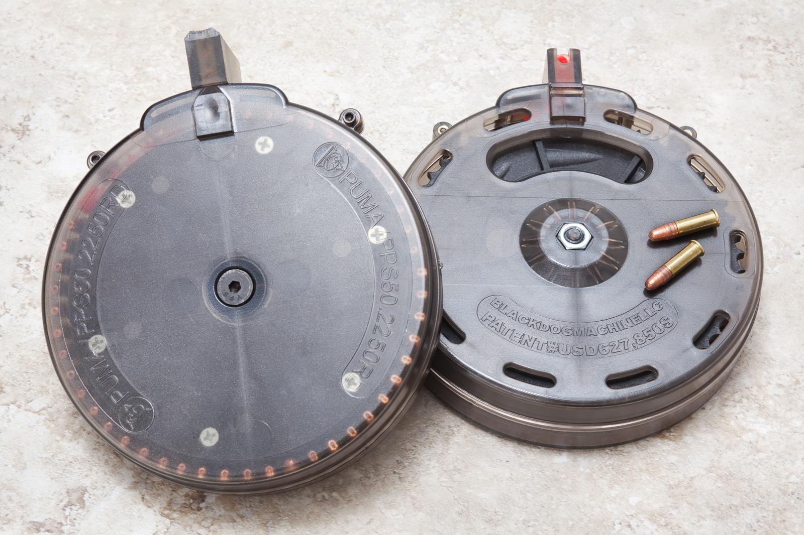 Puma PPS50 drum byBlack Dog Machine keeps each cartirdge separate and not under pressure.