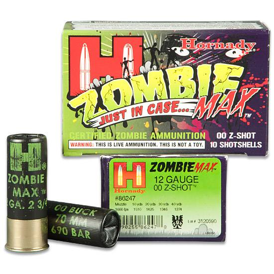 Supply yourself for the Zombie Apocalypse with Zombie Max buckshot.