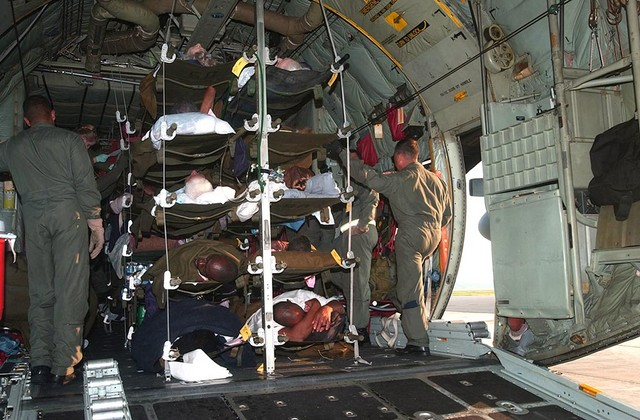 C-130 Transporting Patients