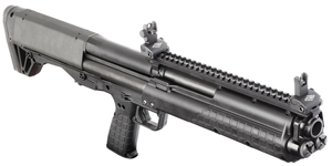 Picture shows a Kel-Tec KSG shotgun.