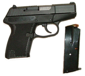 Kel-Tec P-11 pistol right black