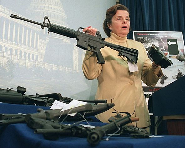 Senator Dianne Feinstein said these weapons are not for hunting deer - they're for hunting people.