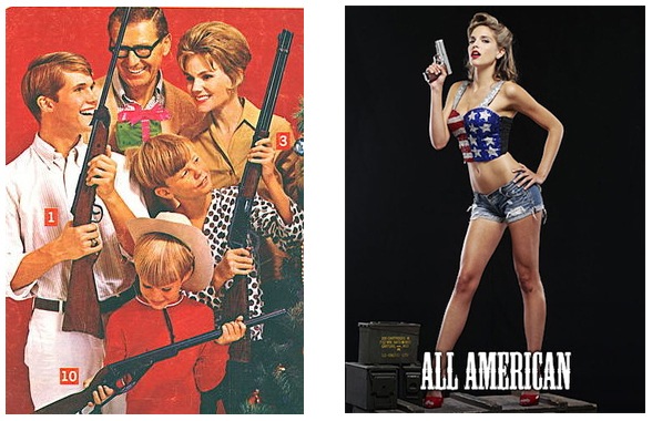 A gun advertisement of yesteryear compared to the gimmicky Kahr Arms ad campaign.