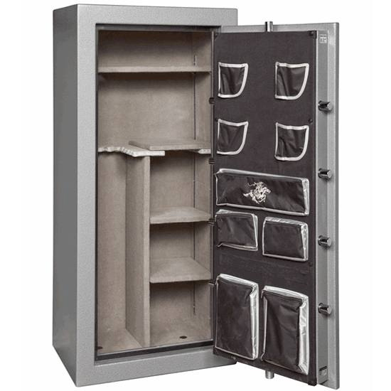 Winchester safes hold numerous firearms safely and securely.