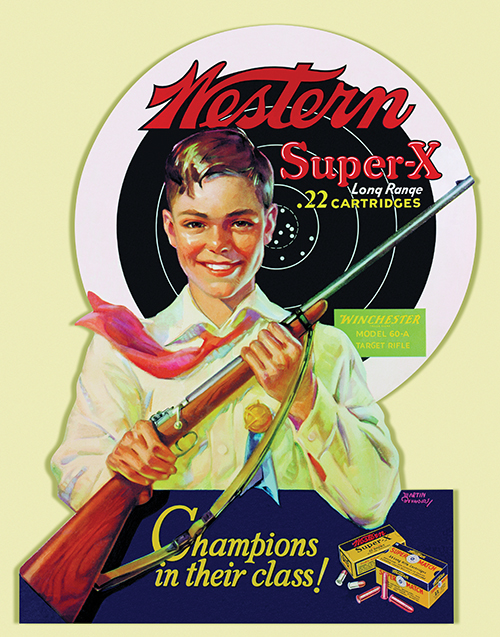 """Champions In Their Class"" is the name of this Western dealer promotional point-of-sale poster inked by an unknown artist."