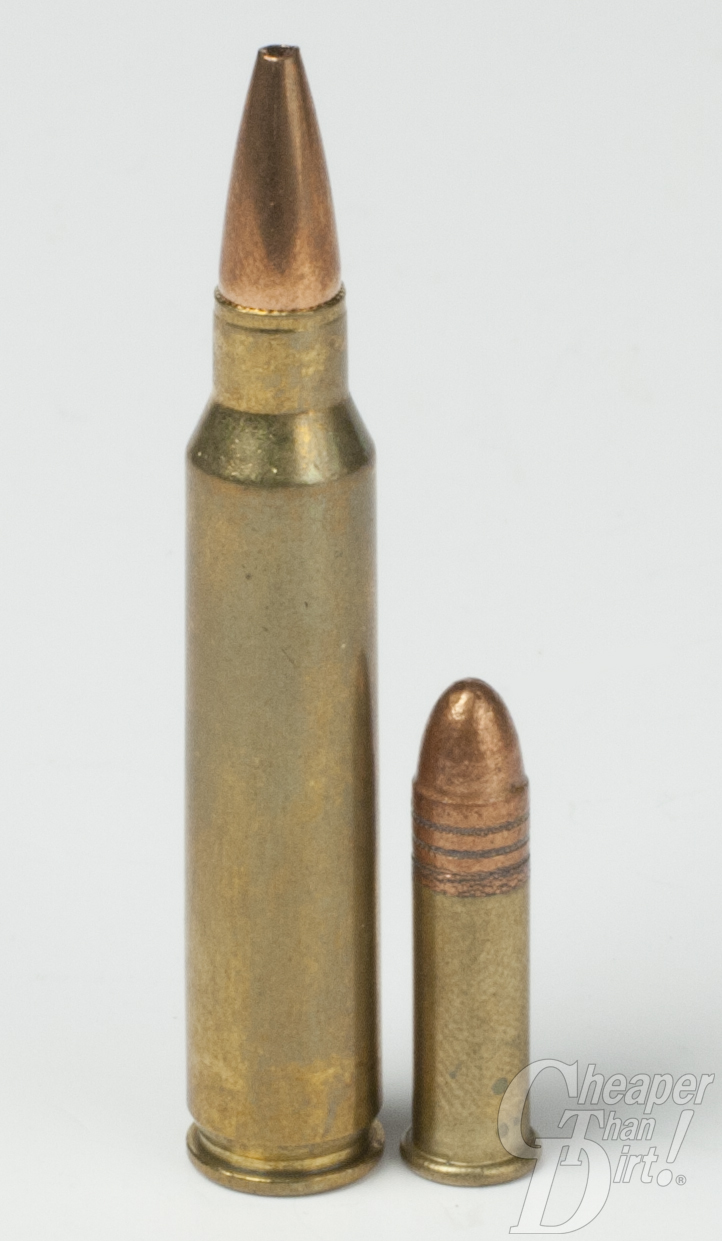 5.56x45 and .22 Long Rifle