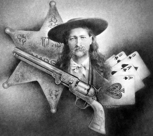 Wild Bill Hickok, His .36 Colt Navy with a Dead Mans Hand