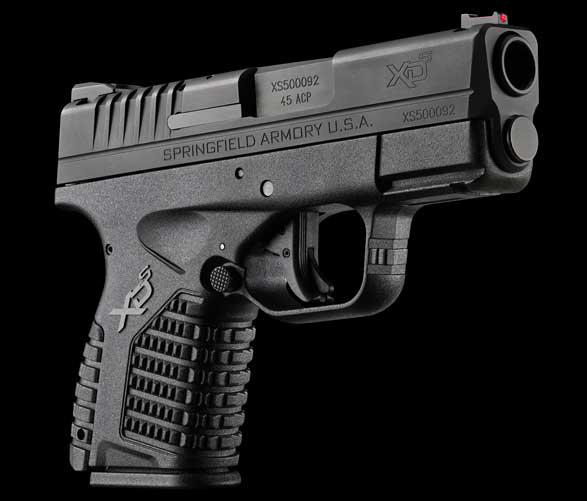 Springfield's slim, compact 45 ACP XD-S was introduced earlier this year to compete against pistols like the Glock G36, Kahr Arms's PM4543, the SIG Sauer 250SC, and others.