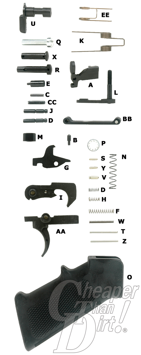 what your ar 15 lower build needs rh blog cheaperthandirt com lower receiver parts kit diagram ar lower parts kit diagram