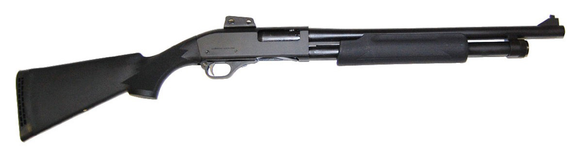 Interstate Arms Hawk 12 gauge shotgun right profile