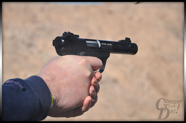Ruger 22/45 Lite in a black anodized finish.