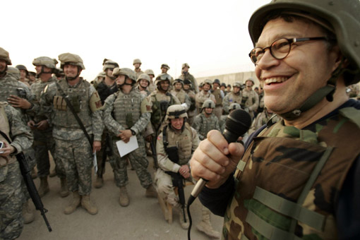 Al Franken with Assault Weapons