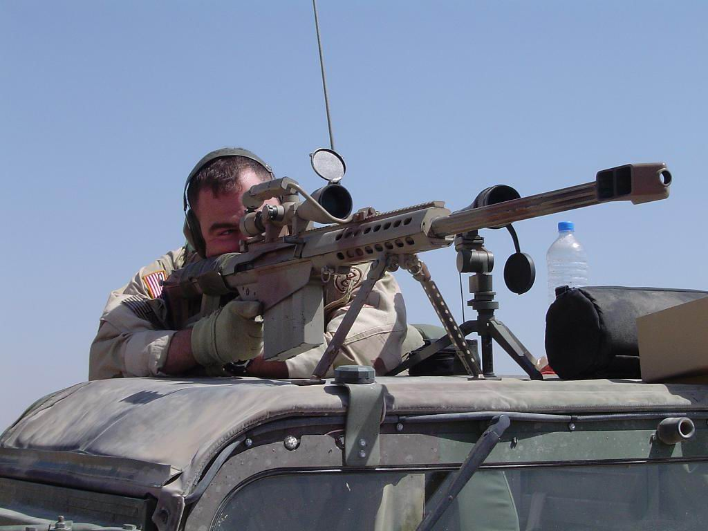 Sniper with Barret .50 Cal