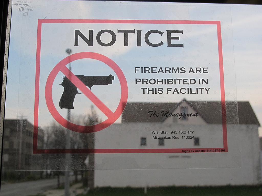 If you frequent places that do not allow firearms, you will need to reconsider where you hang out.
