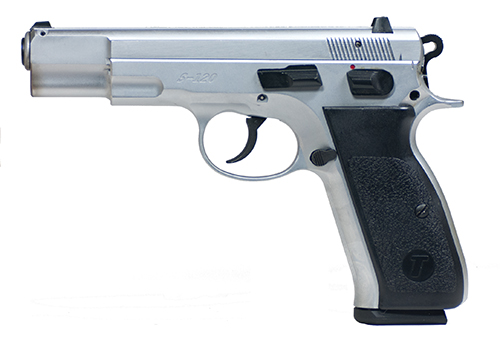 The Tristar 9mm is a full-size, full-weight sidearm.