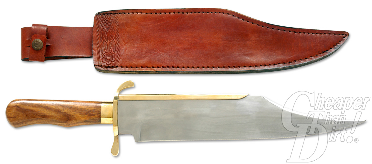 Reproduction of a Bowie hunting knife.