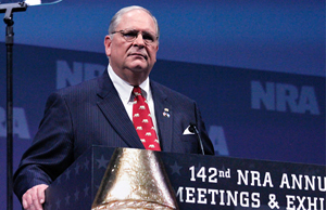 New NRA President James W. Porter is coming under heavy fire for his hardline approach defending gun rights.