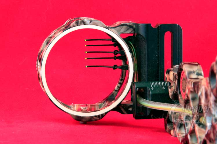 five pin bow sight with level