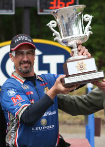 Doug Koenig recently won the 2013 NRA Bianchi Cup National Championship with an all-time match record score of 1920-183X. Photo courtesy of ShootersMagazine.com.