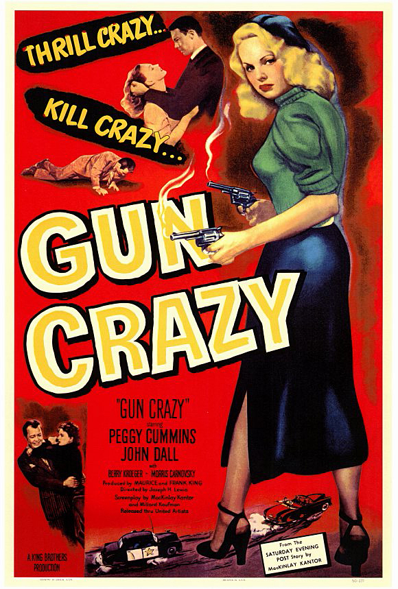 "Picture shows the movie poster for ""Gun Crazy"""