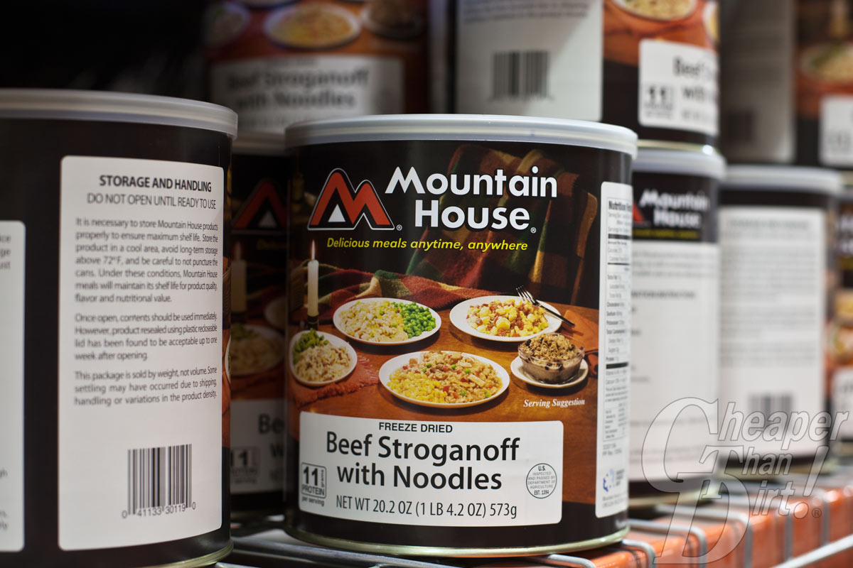 Freeze-dried foods will last up to 30 years.
