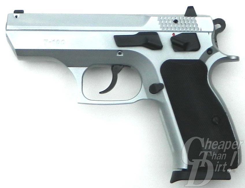 The Canik 55 Shark 9mm Pistol side view white background
