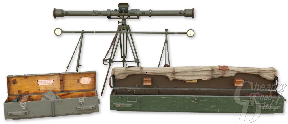 WWII Finnish Stereoscopic Rangefinder and Storage Cases