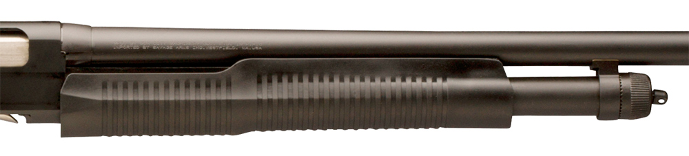 Picture shows a close-up of a shotgun forearm.