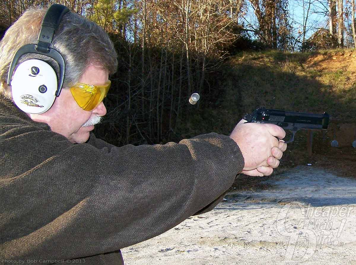 Bob Campbell shooting 9mm +P ammunition