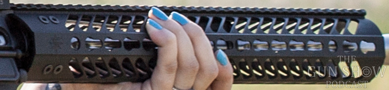 Picture shows a close up of a KeyMod rail system on an AR-15 rifle.