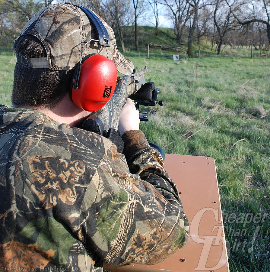 Hearing protection is a must when shooting