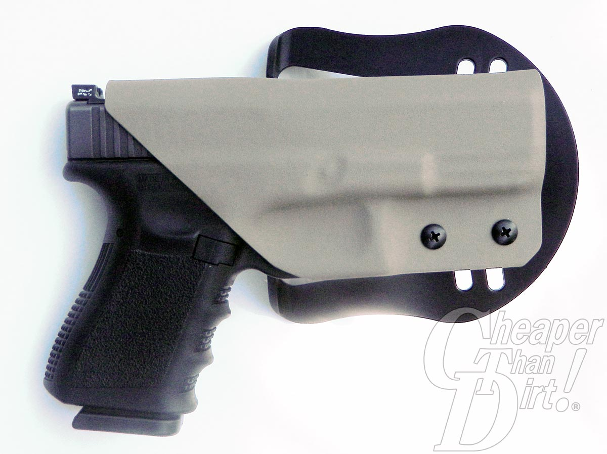 KT–Mech paddle holster with Glock 19 pistol.