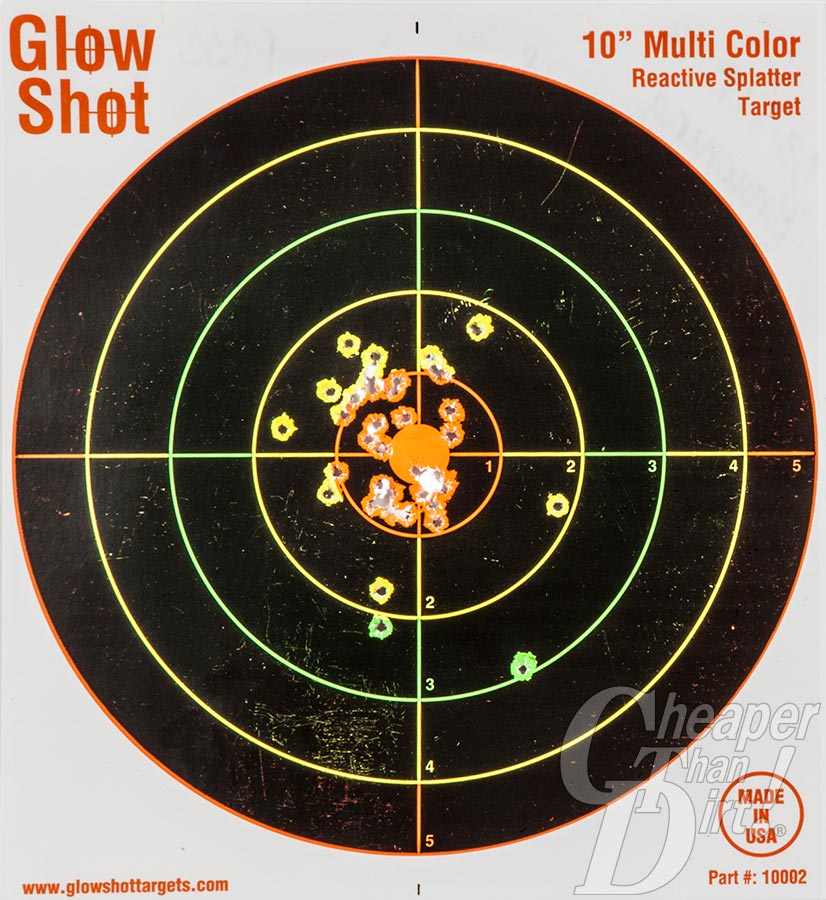 Picture shows a close-up of a shooting target