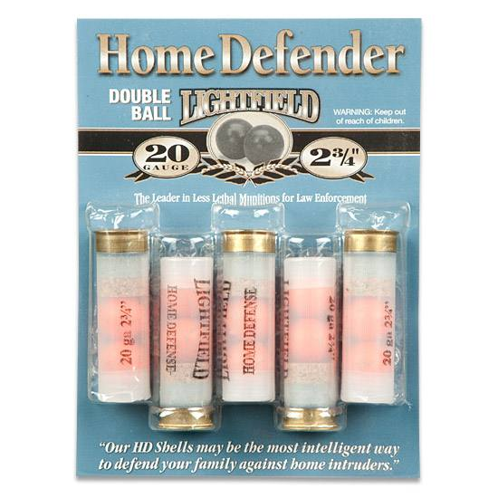 Package of five rubber ball rounds from Lightfield Home Defender Series