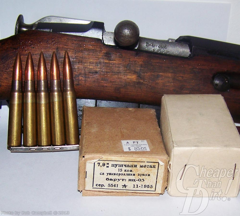 Hungarian 7.62x54 Mosin Nagant rifle with original boxed cartridges.