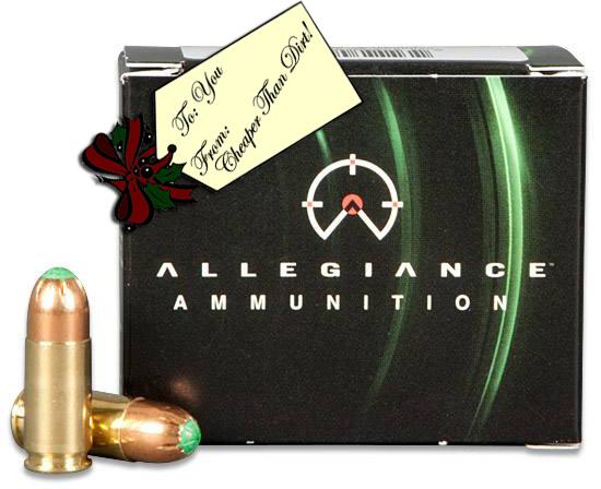 Allegiance Ammunition Power Strike in green and black box